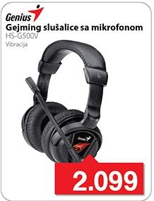 Slušalice sa mikrofonom Gejming Hs-g500v