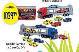 Igračka kamion sa 6 autića