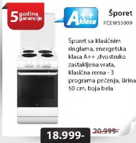Šporet FCEW53009