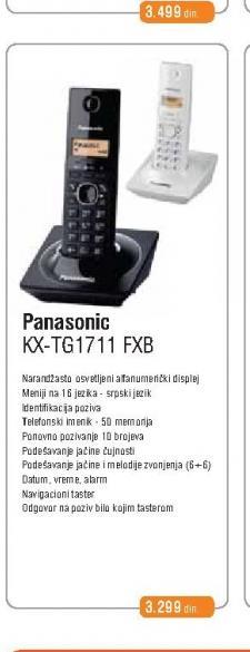 Fiksni Telefon  KX-TG 1711