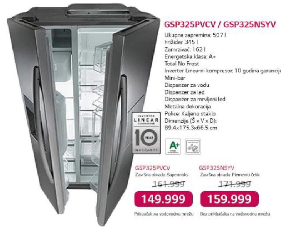 Frižider  GSP325IMSYV