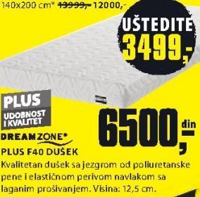 Dušek, Plus f40
