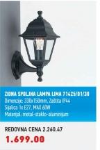 Zidna spoljna lampa Lima 71425/01/30