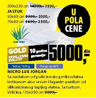 Jorgan Micro Lux 135x200 cm