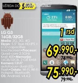 Mobilni telefon G3 32Gb