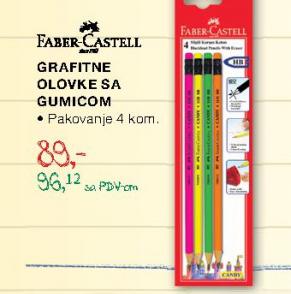 Grafitne olovke sa gumicom