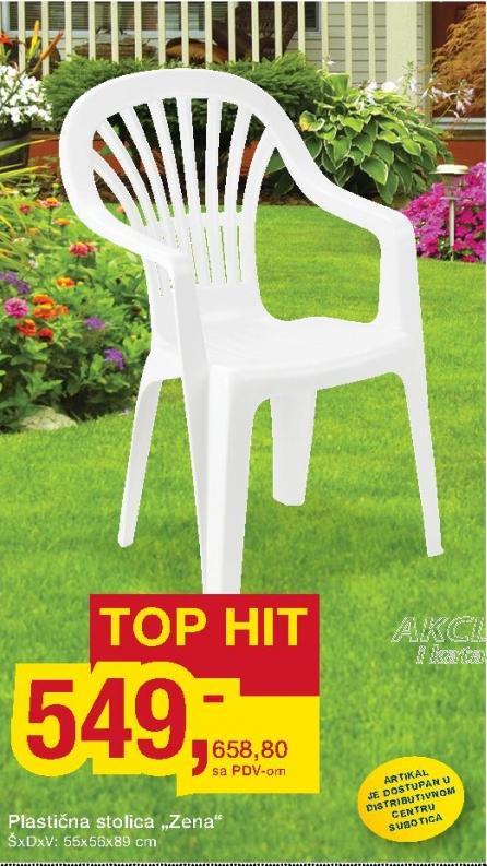 Stolica plastična Zena