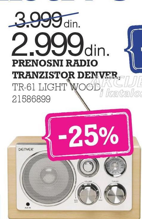 Radio tranzistor TR 61