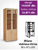 Staklena vitrina Milano Wenge