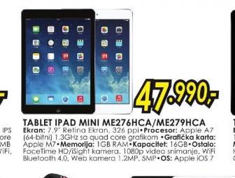 Tablet iPad Mini ME276HC/A