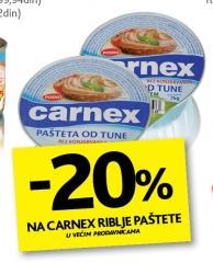 20% popusta na Carnex riblje paštete