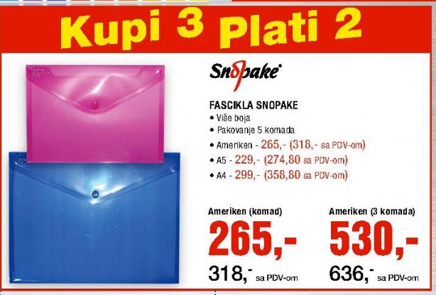 Fascikla A5 - Snopake