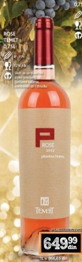 Rose vino Temet