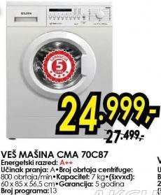 Mašina za pranje veša Cma 70c87