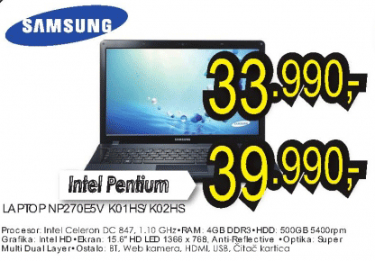 Laptop NP270E5V K02HS