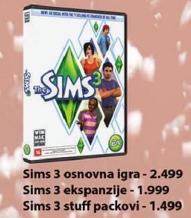 PC igra The Sims 3 ekspanzije