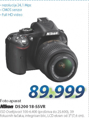 Fotoaparat D5200 18-55 VR
