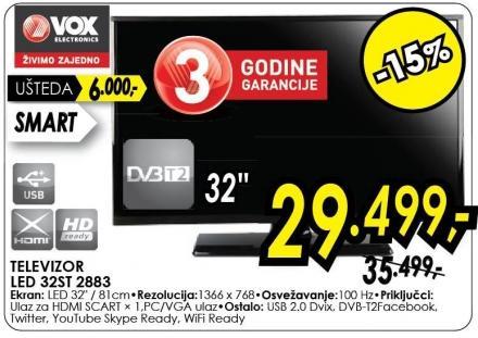 "Televizor LED 32"" 32st 2883"