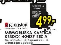 Memorijska kartica KFSDC4