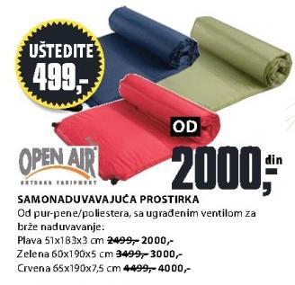 Samonaduvavajuća prostirka 65x190x7.5 cm Open Air