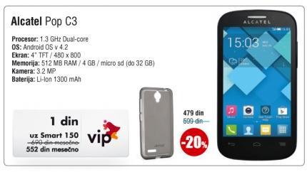 Mobilni telefon Onetouch Pop C3