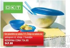 Set plastičnih činija za salatu
