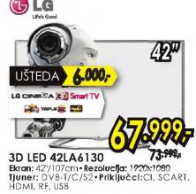 Televizor 3D LED LCD 42LA6130