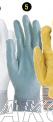 Zaštitne građevinske rukavice, poliamid siva