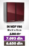 Kuhinjski element IN MDF V80 bordo sjaj