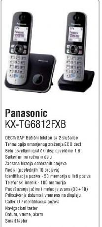 Bežični telefon KX-TG6812FXB