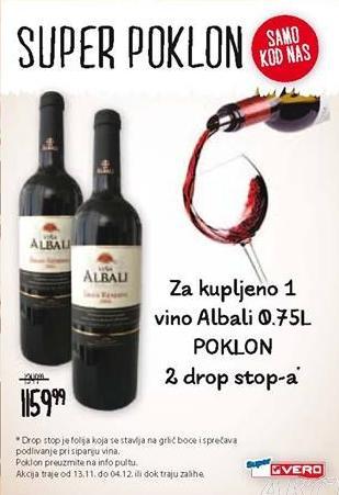 Crno vino Albali