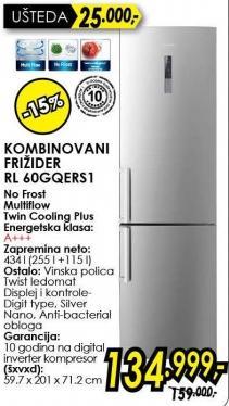 Kombinovani frižider Rl 60gqers1