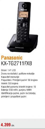 Telefon bežični KX-TG2711FXB