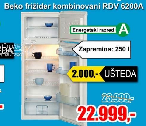 Frižider kombinovani RDV 6200 A