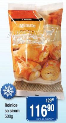 Smrznute rolnice sir