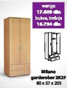 Garderober MILANO 2K2F