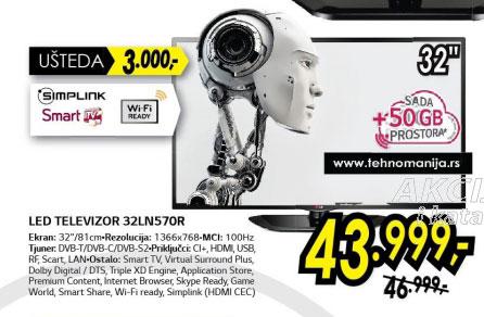 Televizor LED LCD 32LN570R+Poklon: 50GB prostora za skladištenje u Cloud-u