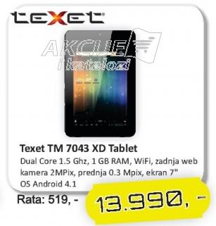 Tablet Tm 7043 Xd Texet