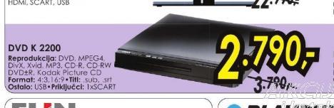 DVD plejer DVD K2200