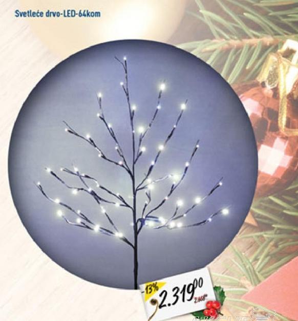 Lampion svetleće drvo