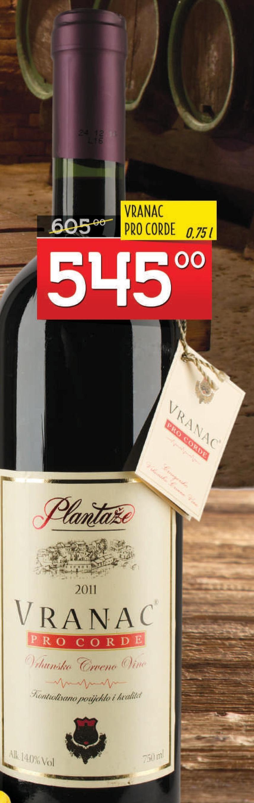 Crveno vino Pro Corde