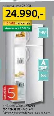Frižider kombinovani RD 4140 AW
