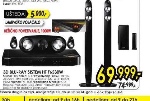 Blu-ray sistem HT-F6530W