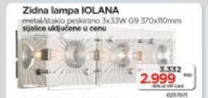 Zidna lampa Iolana