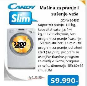 Mašina Za Pranje I Sušenje Veša GC4W264D