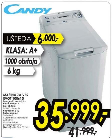Mašina za pranje veša Evot 10061d