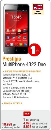 Mobilni telefon MultiPhone 4322 Duo