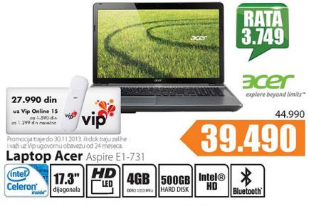 Laptop Aspire E1-731-10054G50Mnii