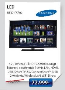 LED Televizor UE42-F5300