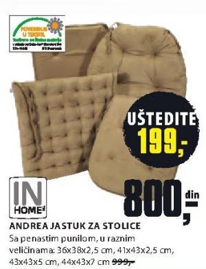 Jastuk Andrea, za stolice